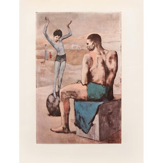 """1954 Pablo Picasso """"Girl on a Ball"""", Period First Limited Italian Edition Lithograph For Sale"""