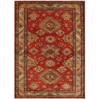 Super Kazak Garish Lawrence Red/Gold Wool Rug - 4'0 X 5'8