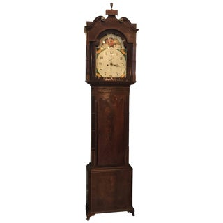 19th Century Georgian Mahogany Tall Case Clock For Sale