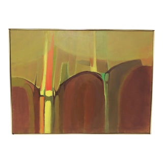 Abstract Boston School Color Field Painting by Lynn Runnells, Circa 1970s For Sale