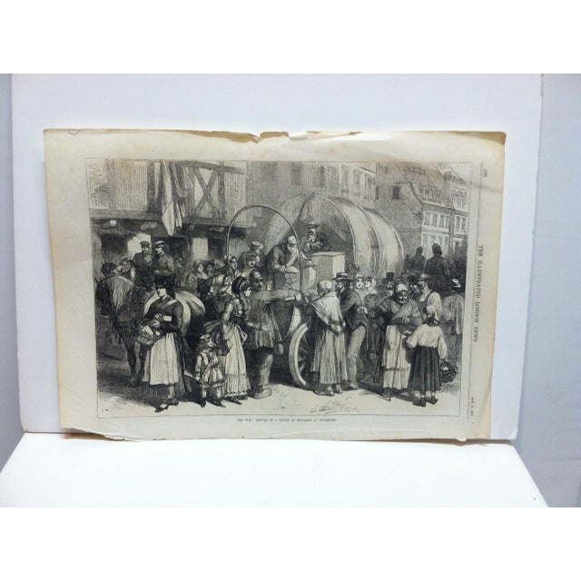 """Antique 1870s """"The War - Arrival of a Supply of Provisions at Strasbourg"""" Print For Sale In Pittsburgh - Image 6 of 6"""