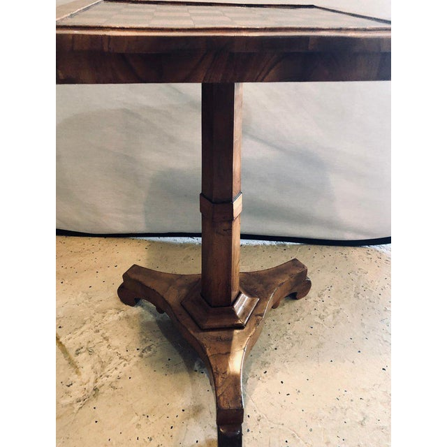 A 19th Century English Tilt Top Game Checkerboard or Card Table For Sale - Image 4 of 11