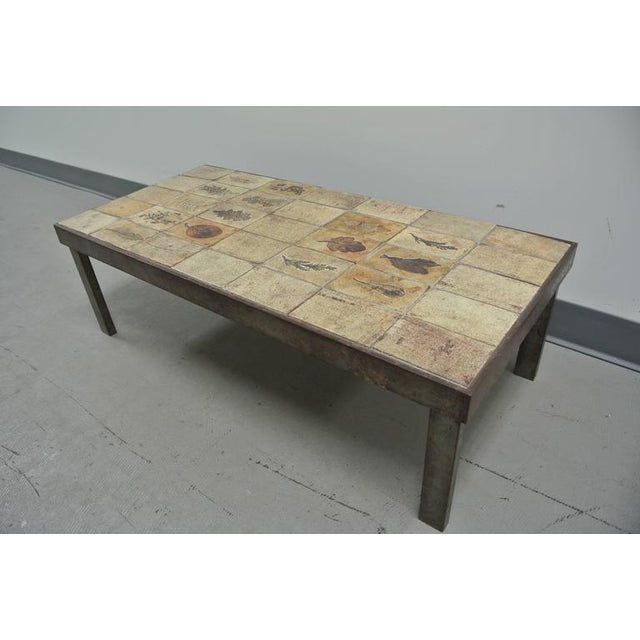 Garrigue Tile Coffee Table by Roger Capron For Sale - Image 10 of 10