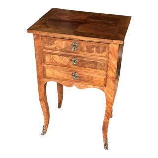19th Century Traditional Three Drawer Inlaid Petite Commode For Sale