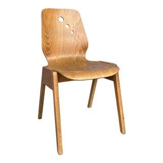 Mid Century Modern Wood Side Chair