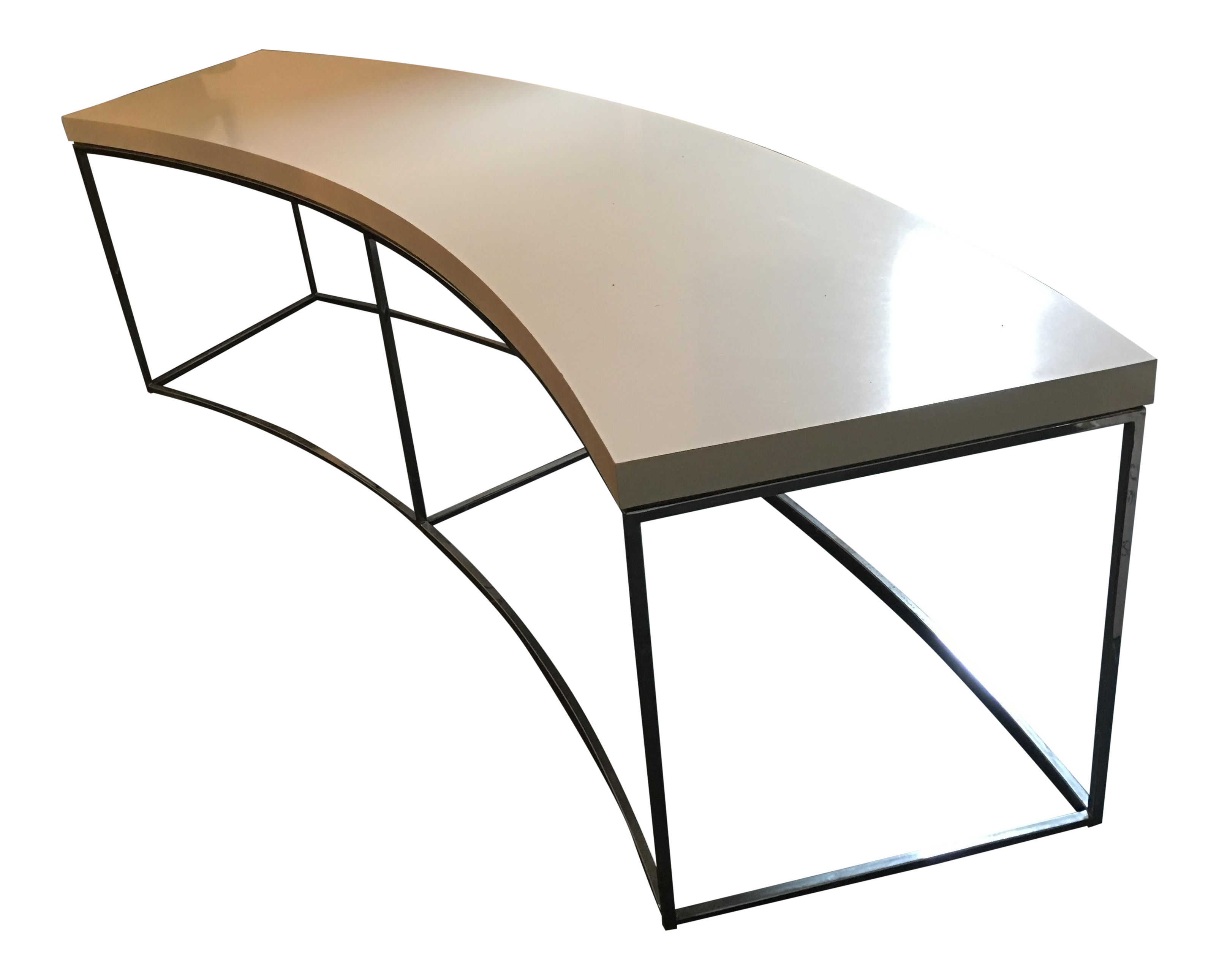 Milo Baughman Curved Sofa Table