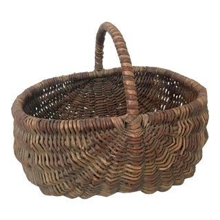 Early 20th Century American Woven Basket For Sale