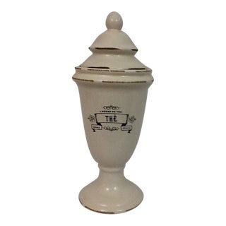 """French Country Apothecary Lidded Jar """"The"""" For Sale"""