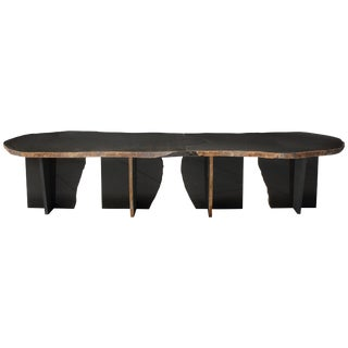 Exceptionnal Daté Kan Volcanic Stone Low Table, Kaaron and Okurayama Studio For Sale