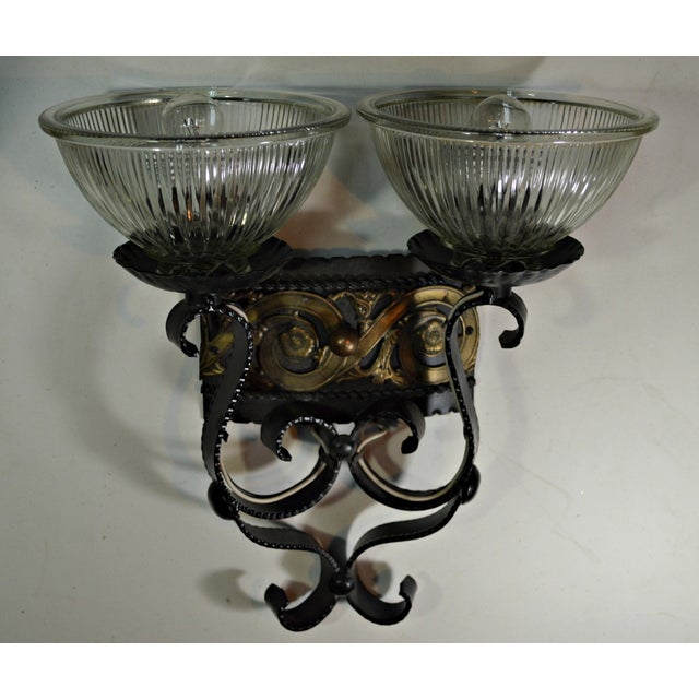 Two Light Egyptian Motif Sconce For Sale In Miami - Image 6 of 6