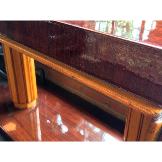 Gilbert Rohde Art Deco Oval Drop-Leaf Desk For Sale - Image 10 of 13