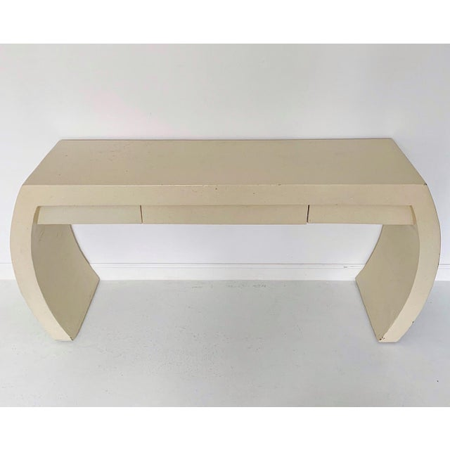 Contemporary 1980s Contemporary Waterfall Plaster Console Table With Drawer For Sale - Image 3 of 11