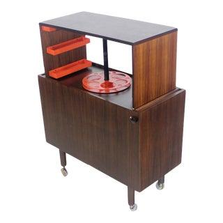 Rare Scandinavian Modern Rosewood Pop-Up Bar Cabinet Designed by Kai Kristiansen For Sale