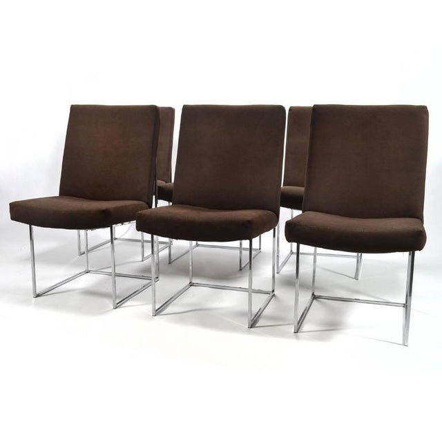 Thayer Coggin Milo Baughman Set of Six Dining Chairs by Thayer Coggin For Sale - Image 4 of 10