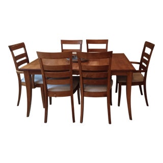 Maple Dining Set With Two Extension Leafs For Sale