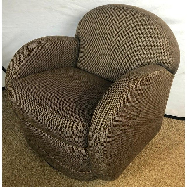 Mid-Century Modern Pace by Directional Leon Rosen Style Mid-Century Modern Swivel Chairs - a Pair For Sale - Image 3 of 9
