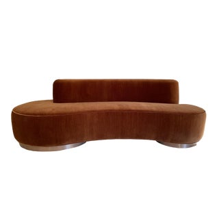 1970s Vladimir Kagan Curved Kidney Cloud Sofa For Sale