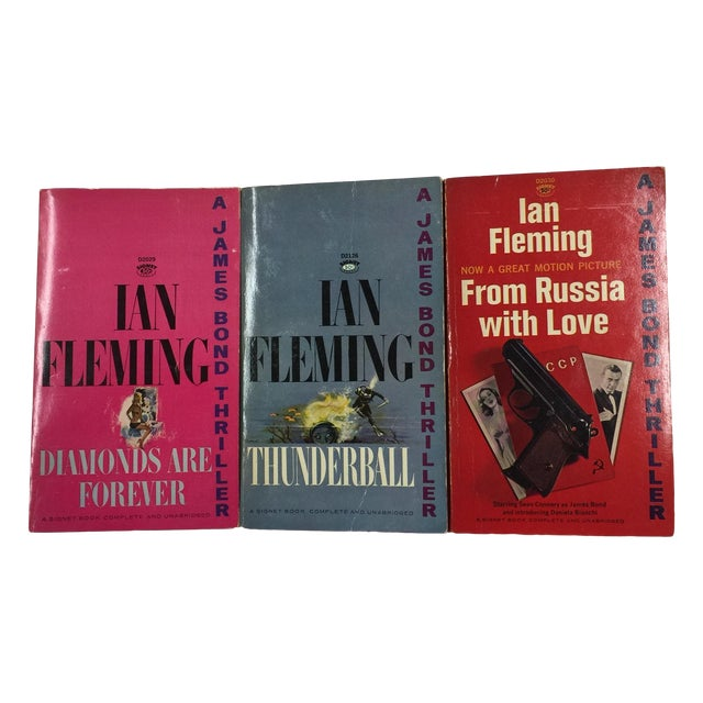 Vintage Ian Fleming Soft Covers Books - Set of 3 - Image 1 of 3