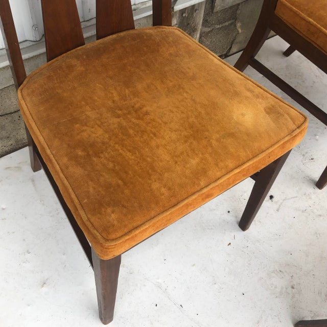 Mid-Century Dining Set With Large Table and Six Chairs For Sale In New York - Image 6 of 13