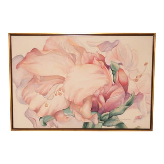 """Large Scale Floral Painting Titled """"Audible Blooms"""" by Daryl D. Johnson For Sale"""