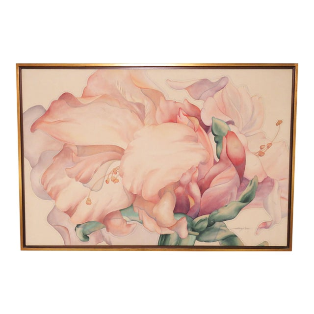 "Large Scale Floral Painting Titled ""Audible Blooms"" by Daryl D. Johnson For Sale"