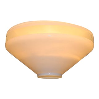 1990 Mid-Century Itre White Murano Glass Ceiling Lamp For Sale