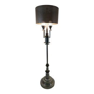 Monumental Art Deco Revival Floor Lamp in the Manner of Tommi Parzinger For Sale