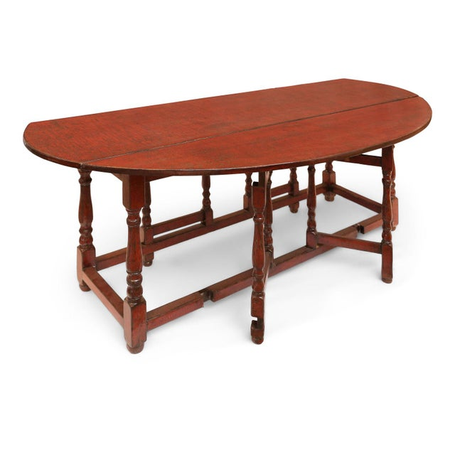 English Traditional Red Lacquered English Table For Sale - Image 3 of 13