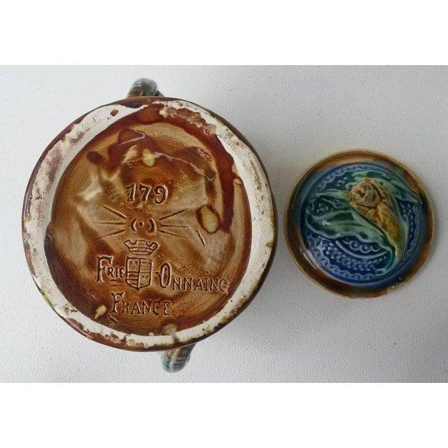 Majolica Elephant Tobacco Jar For Sale - Image 5 of 5
