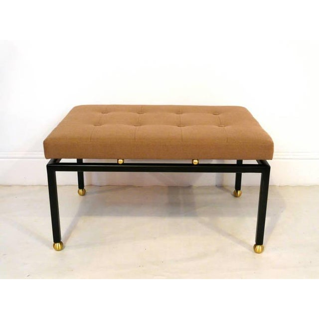 Custom CF MODERN Brass Ball Foot Bench - Image 9 of 11