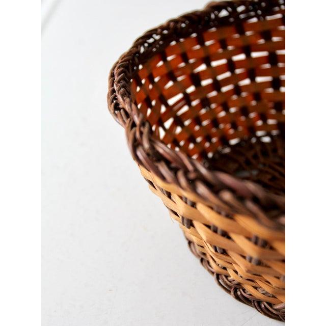 Vintage Woven Basket Bowl For Sale - Image 5 of 7