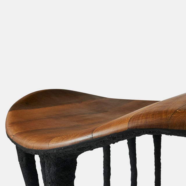 2010s Bended Center Table in Oak by Valentin Loellmann For Sale - Image 5 of 7