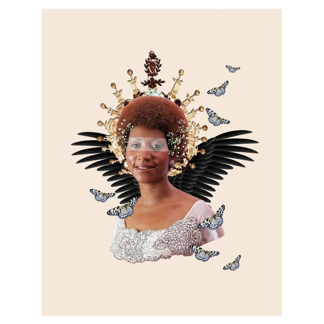 """A powerful giclee print of an original digital, mixed media composition, """"Reath Angel"""". Archival giclee print. Signed..."""
