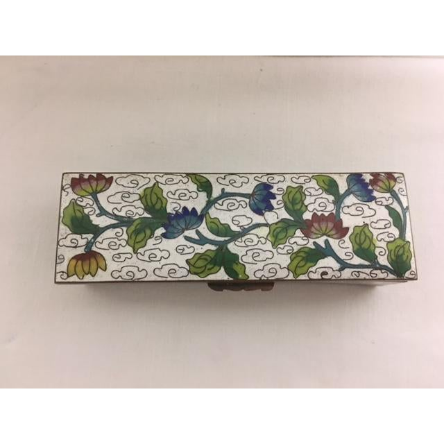 Antique Cloisonne Stamp Box For Sale - Image 4 of 8