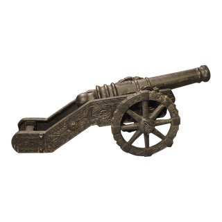 Circa 1900 Cast Iron Cannon Model For Sale