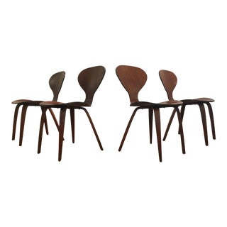 Plycraft Cherner Bent Wood Dining Chairs - Set of 4