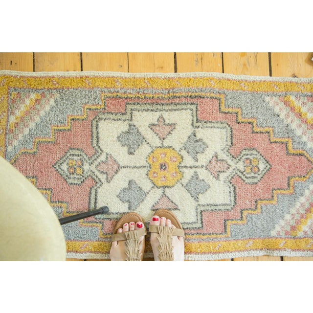 "Vintage Turkish Oushak Rug - 1'9"" x 3'3"" - Image 4 of 6"