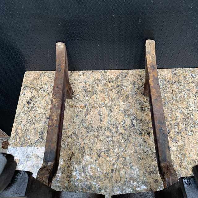 Antique Victorian Cast Iron Andirons Urn, Ball Finial Scroll Feet - a Pair For Sale - Image 4 of 8