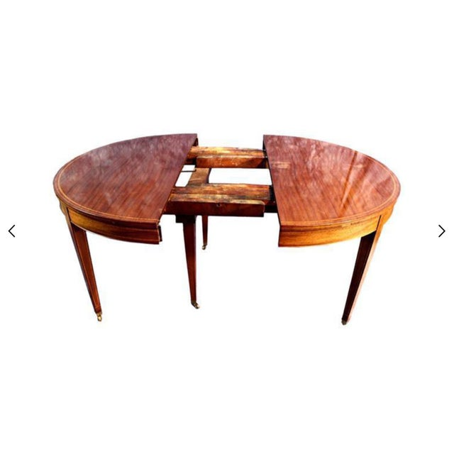 Sheraton Style Inlaid Dining Table With Five Leaves - Image 3 of 10