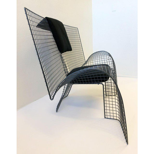 Contemporary Memphis Steel Mesh Chair by D'Urbino Lomazzi for Zerodesigno For Sale - Image 3 of 11