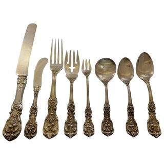 Francis I Old by Reed and Barton Sterling Silver Flatware Set Service - 89 Pcs For Sale