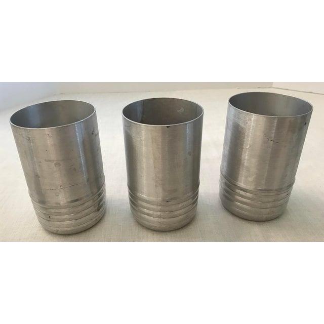Modern Vintage Aluminum Tumblers - Set of 6 For Sale - Image 3 of 8