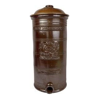 French Water Filter With Stag and Dog For Sale