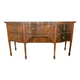 19th Century Antique Regency Mahogany Sideboard For Sale