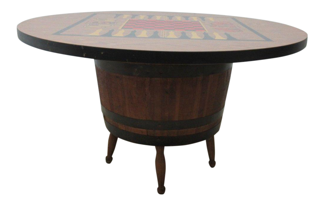 Vintage Barrel Keg Game Table Chairish