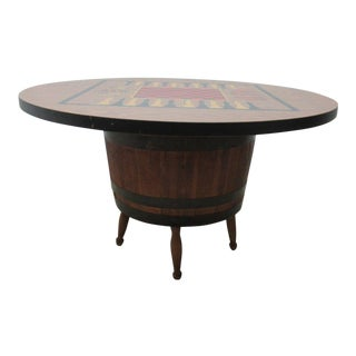 Vintage Barrel Keg Game Table For Sale