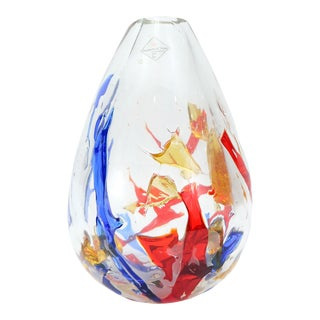 Barovier & Toso Multi-Color Murano Glass Vase For Sale