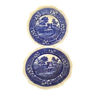 Spode's Tower Blue Soup Bowls - A Pair