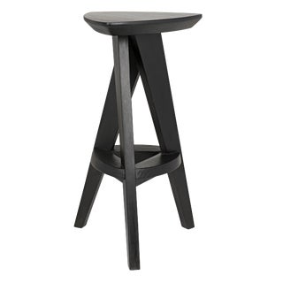 Twist Counter Stool, Charcoal Black For Sale
