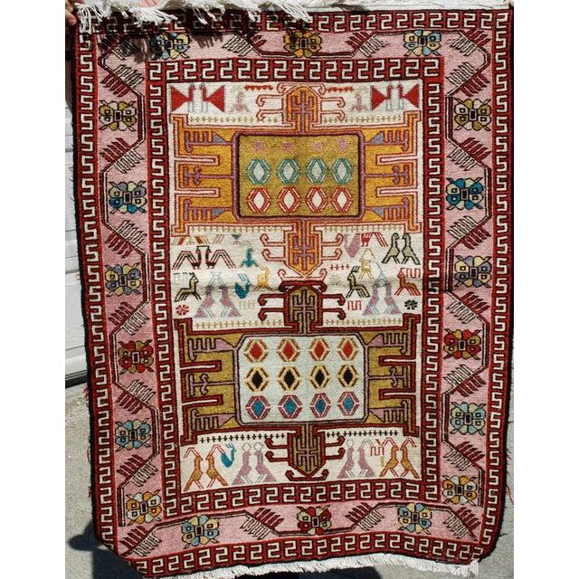 Silk & Wool Handmade Kilim Rug - 2'6'' X 3'4'' - Image 2 of 5